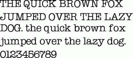 Typewriter Text: The Quick Brown Fox Jumped Over The Lazy Dog