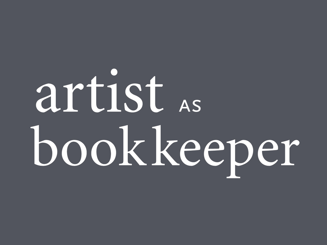 Artist as Bookkeeper booklet cover