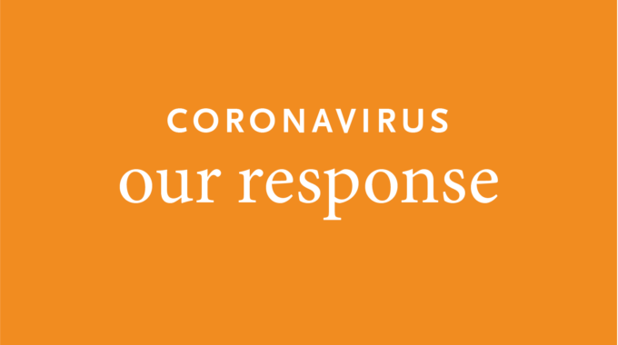Coronavirus Our Response On Orange Background