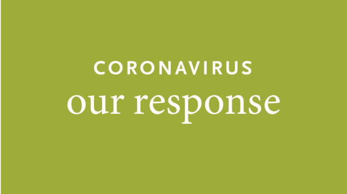 Coronavirus Our Response On Green Background
